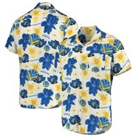 Golden State Warriors Floral Button-Up Shirt - White