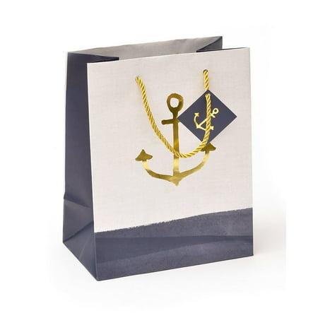 George Stanley Gold Foil Anchor Medium Gift Bag & Tag
