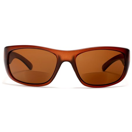 Brando Brenda Sports Bi-Focal Sun Readers Outdoor Comfort Sunglasses Brown - 1.5 / (Samba Sunglasses)