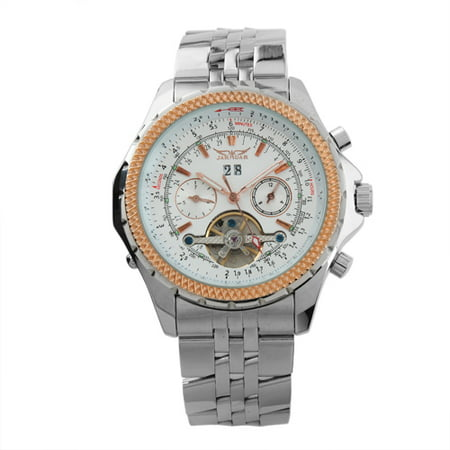 Se White Dial - White Dial Automatic Mechanical Mens Watch Silver Stainless Steel Case Date