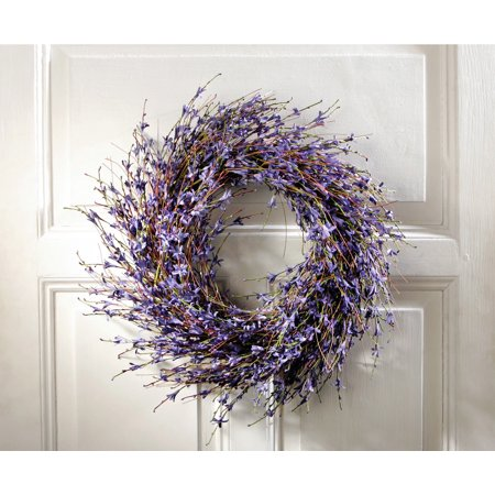 Faux Dried Lavender Floral Door Wreath (Floral Door Wreaths)