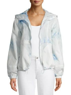 Kendall + Kylie Women's Tie Dye Anorak Windbreaker Jacket