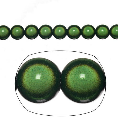 Miracle Beads, 8mm Round, Dark Green 77 beads per pack (2-pack Value Bundle), SAVE (Green Miracle Beads)