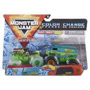 Monster Jam, Official Grave Digger Vs. Mystery Machine Color-Changing Die-Cast Monster Trucks, 1:64 Scale