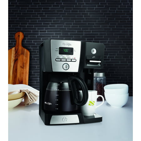 Mr. Coffee 12-Cup Programmable Coffee Maker and Hot Water Station, Black, BVMC-DMX85WM