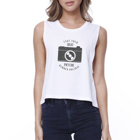 Best Summer Picture White Graphic Crop Tank Top For Women Gift (Best Small Acreage Crops)