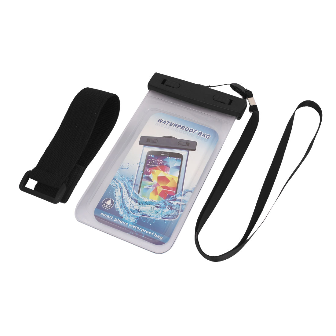 Waterproof Case Cover Bag Dry Pouch Clear w Armband for 5.5  Cell Phone