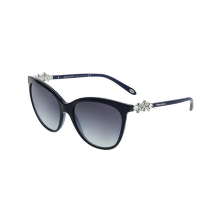 Tiffany & Co Women's Gradient TF4131HB-81913C-56 Blue Rectangle Sunglasses ()