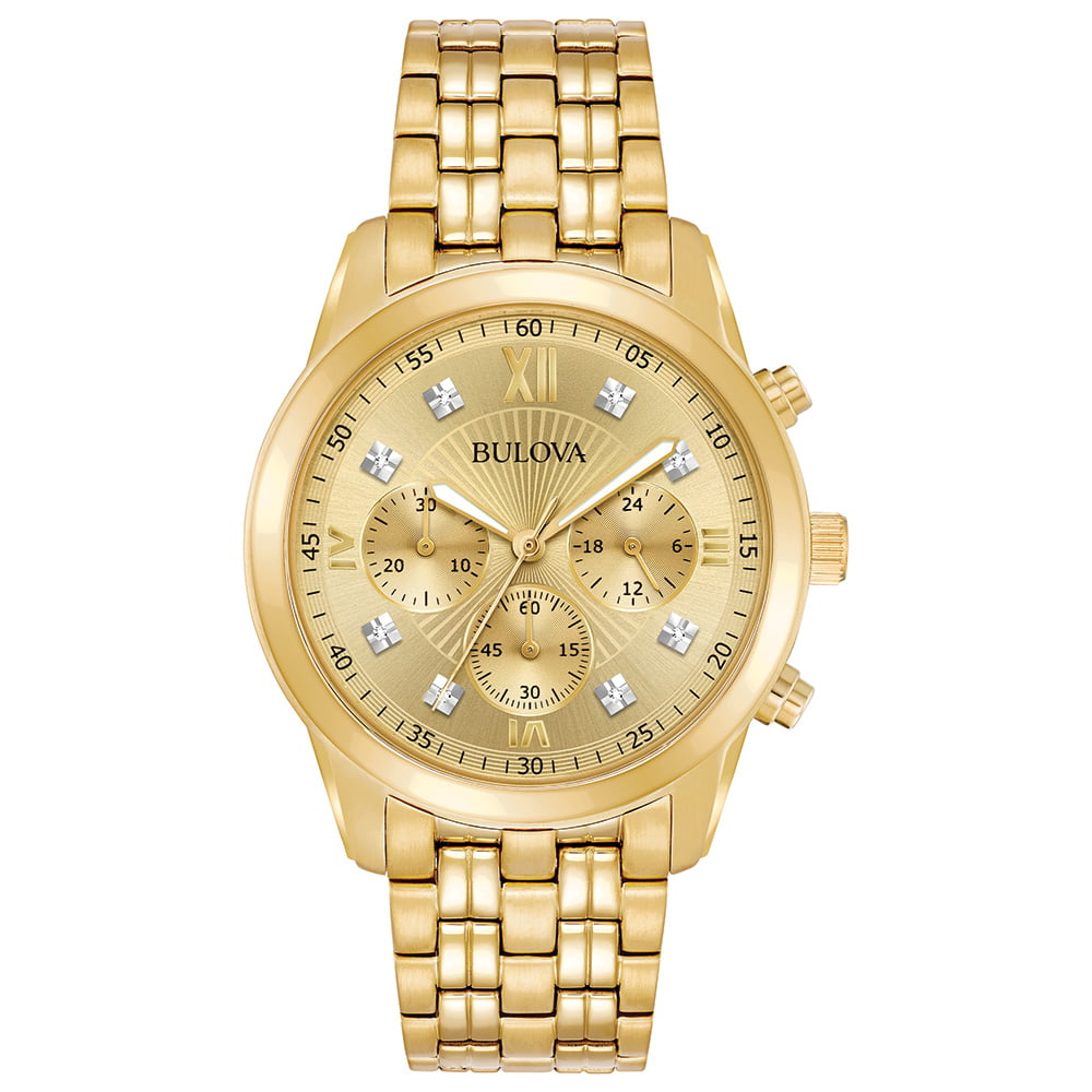 Bulova Men's Diamond Accent Stainless Steel Chronograph Watch