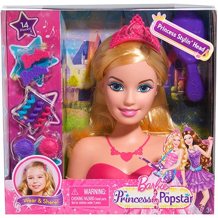 Barbie Princess and the Popstar Styling Head - Barbie And The Halloween Games