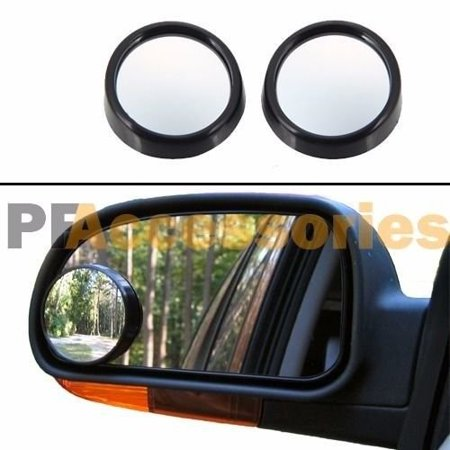 """Wideskall® 2 Pieces Universal 2"""" Wide Angle Convex View Adjustable Blind Spot Mirror Stick on Car"""