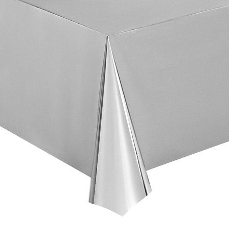 Juvale Silver Foil Tablecloth 3 Pack 54 X 108 Inch Shiny
