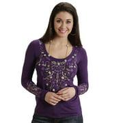 Stetson Western Shirt Womens Rayon L/S Purple 11-038-0513-0736 PU