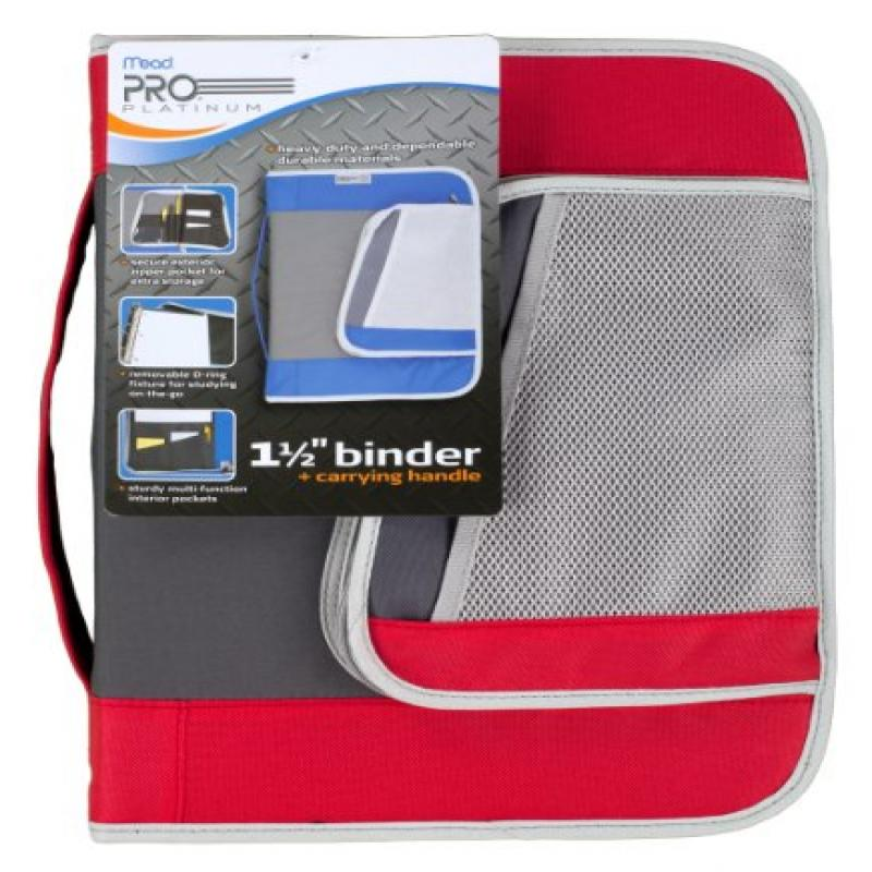 Mead PRO Platinum Heavy-Duty Zipper Binder with Handle, 1...