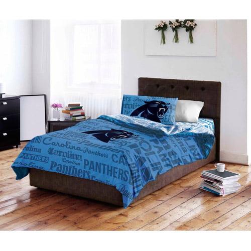nfl carolina panthers bed in a bag complete bedding set - walmart