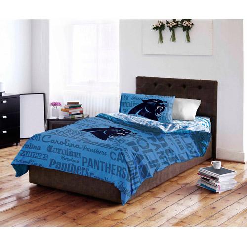 NFL Carolina Panthers Bed In A Bag Complete Bedding Set