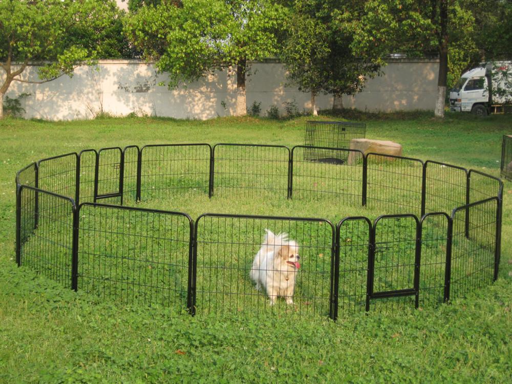 Yaheetech 16 Panels Heavy Duty Dog Playpen Large Exercise Fence