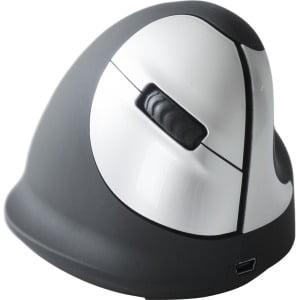 R-Go Tools Wireless Vertical Ergonomic Mouse, Medium, Right Hand - Black