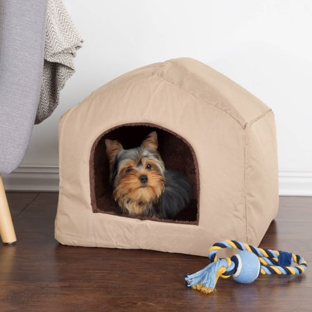 Petmaker Cozy Cottage House Shaped Pet Bed Walmart Com