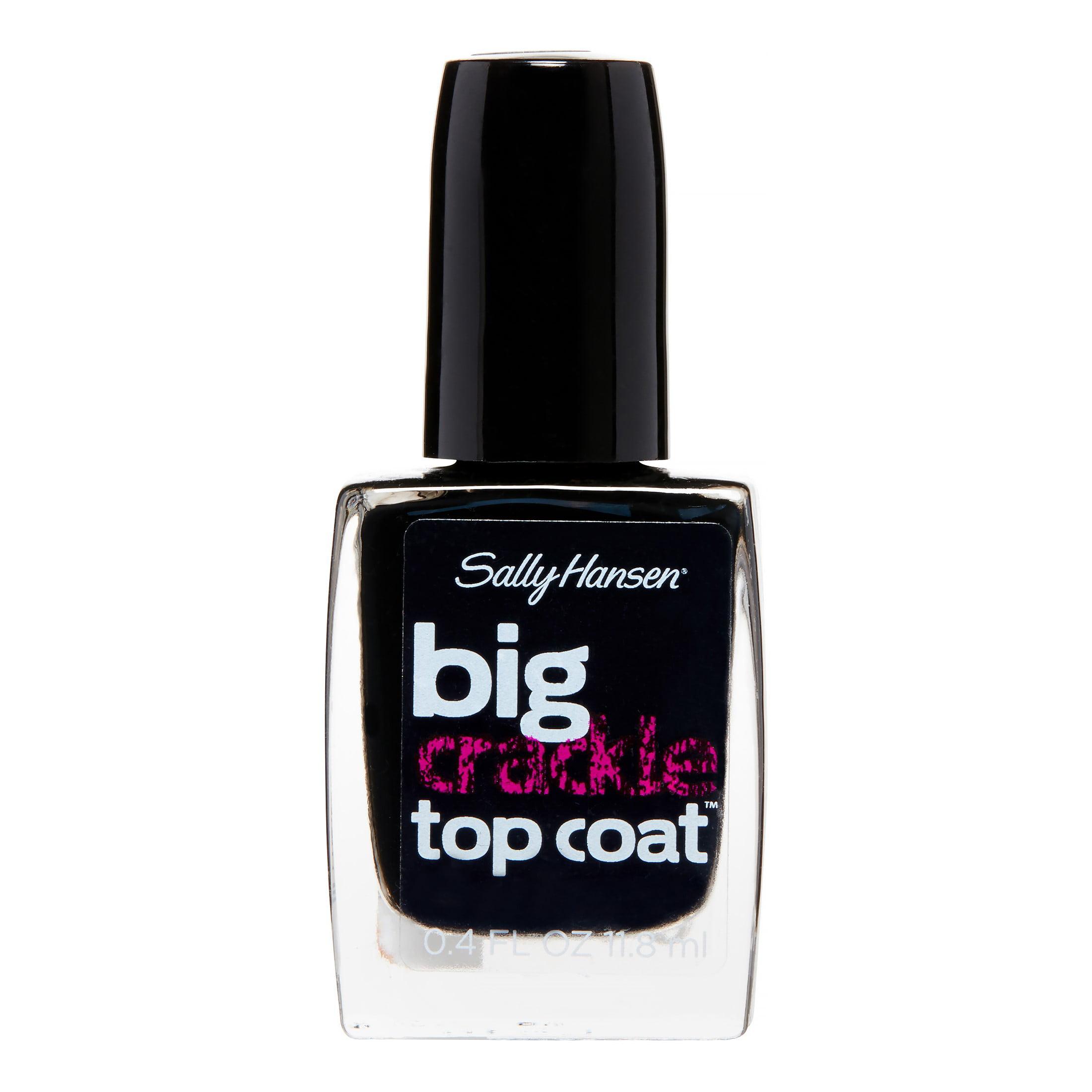 Sally Hansen Big Crackle Top Coat, Black On