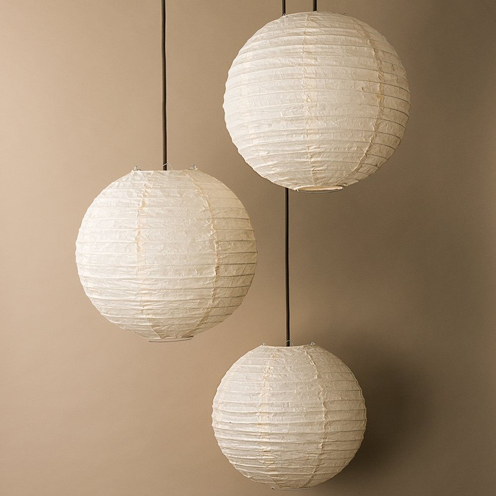 "PaperLanternStore.com BULK PACK (3) 12"" Cloud Dragon Japanese Kozo Unryu Fibrous Paper Lantern Shade, Hanging Decoration by Quasimoon"