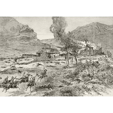 The British Relief Column Arrives At Rorkes Drift Kwa-Zulu-Natal Province South Africa After The Battle From Afrika Dets Opdagelse Erobring Og Kolonisation Published In Copenhagen 1901 Stretched