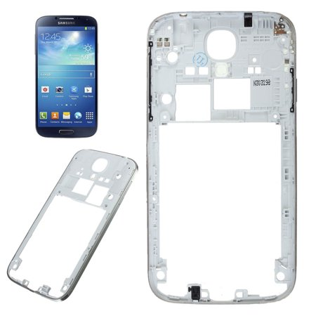 Middle Frame Housing - Middle Frame Rear Back Bezel Housing Backplate For Samsung Galaxy S4 i9500 Silver