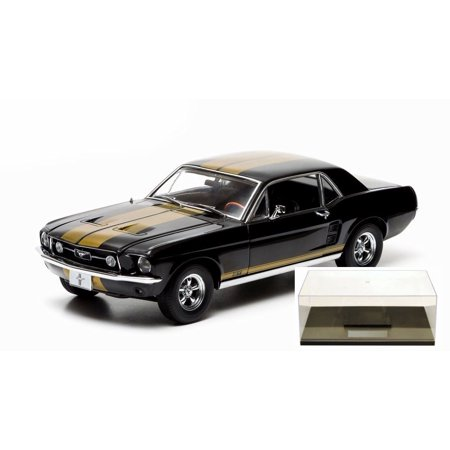 diecast car & accessory package - 1967 ford mustang gt, black w
