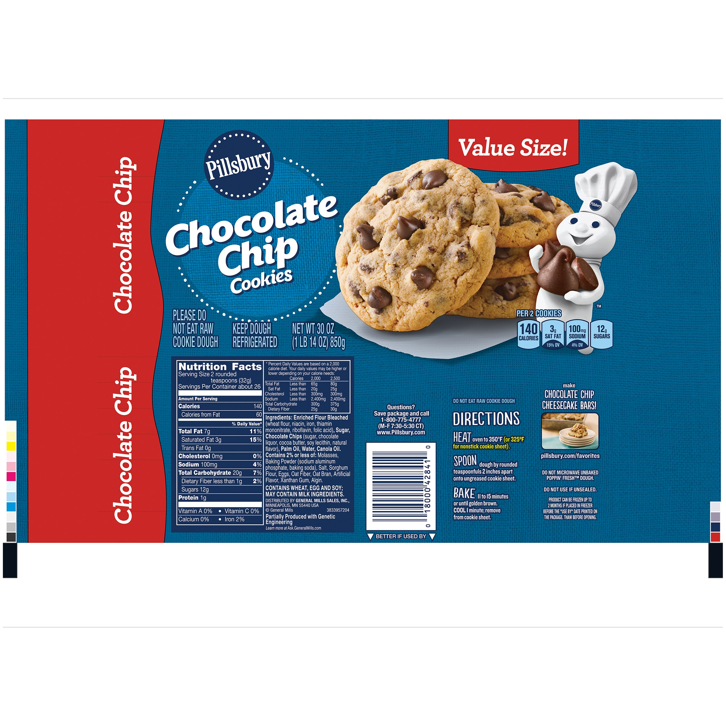 Pillsbury Chocolate Chip Cookies Baking Instructions