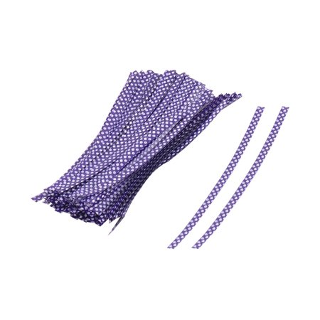 Plastic Dots Pattern Candy Bags Packaging Twist Ties Purple 10cm Length 100 -