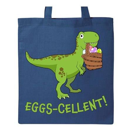 Cute Tote Bags (Eggs-cellent! Cute Easter T-Rex Dinosaur Tote)
