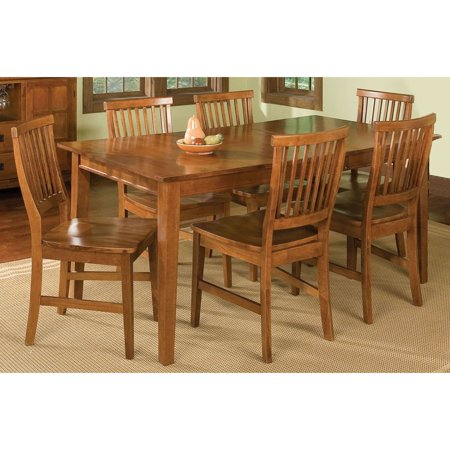 - Home Styles Arts & Crafts 7 Piece Dining Set, Cottage Oak
