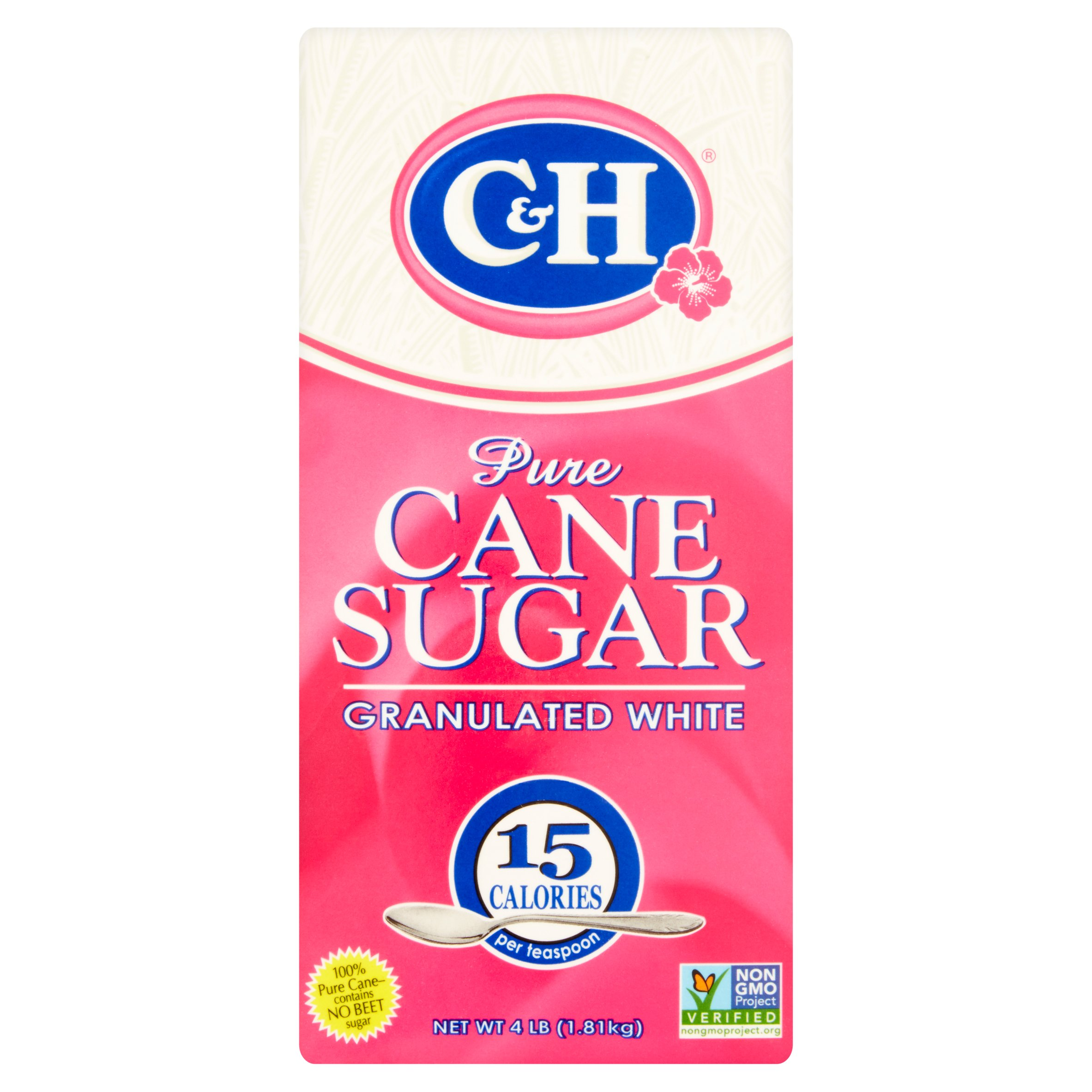 C&H Pure Cane Sugar Granulated White 4 lb Carton