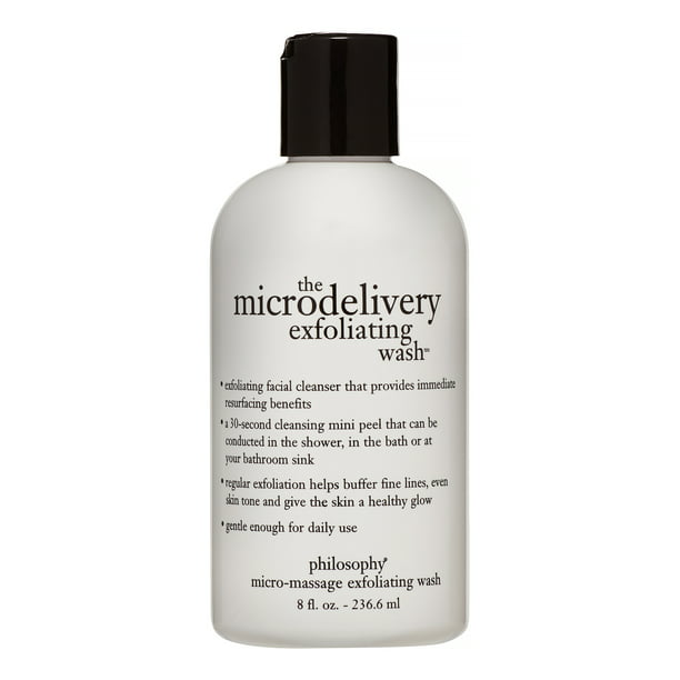 Philosophy The Microdelivery Daily Exfoliating Facial Cleanser, Face Wash for All Skin Types, 8 Oz