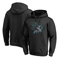 San Jose Sharks Fanatics Branded Static Logo Pullover Hoodie - Black