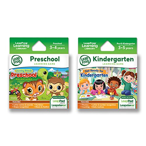 LeapFrog LeapPad Game Cartridges: Get Ready for Kindergarten, Preschool Adventures ()