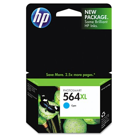 HP 564XL, (CB323WN) High Yield Cyan Original Ink Cartridge -HEWCB323WN