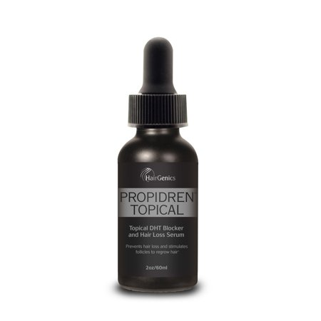 Regrow Hair (Propidren by Hairgenics FDA Approved Hair Growth Serum with Powerful DHT Blockers to Prevent Hair Loss, Stimulate Hair Follicles and Help Regrow Hair. 1 Month Supply, 2 FL OZ. )