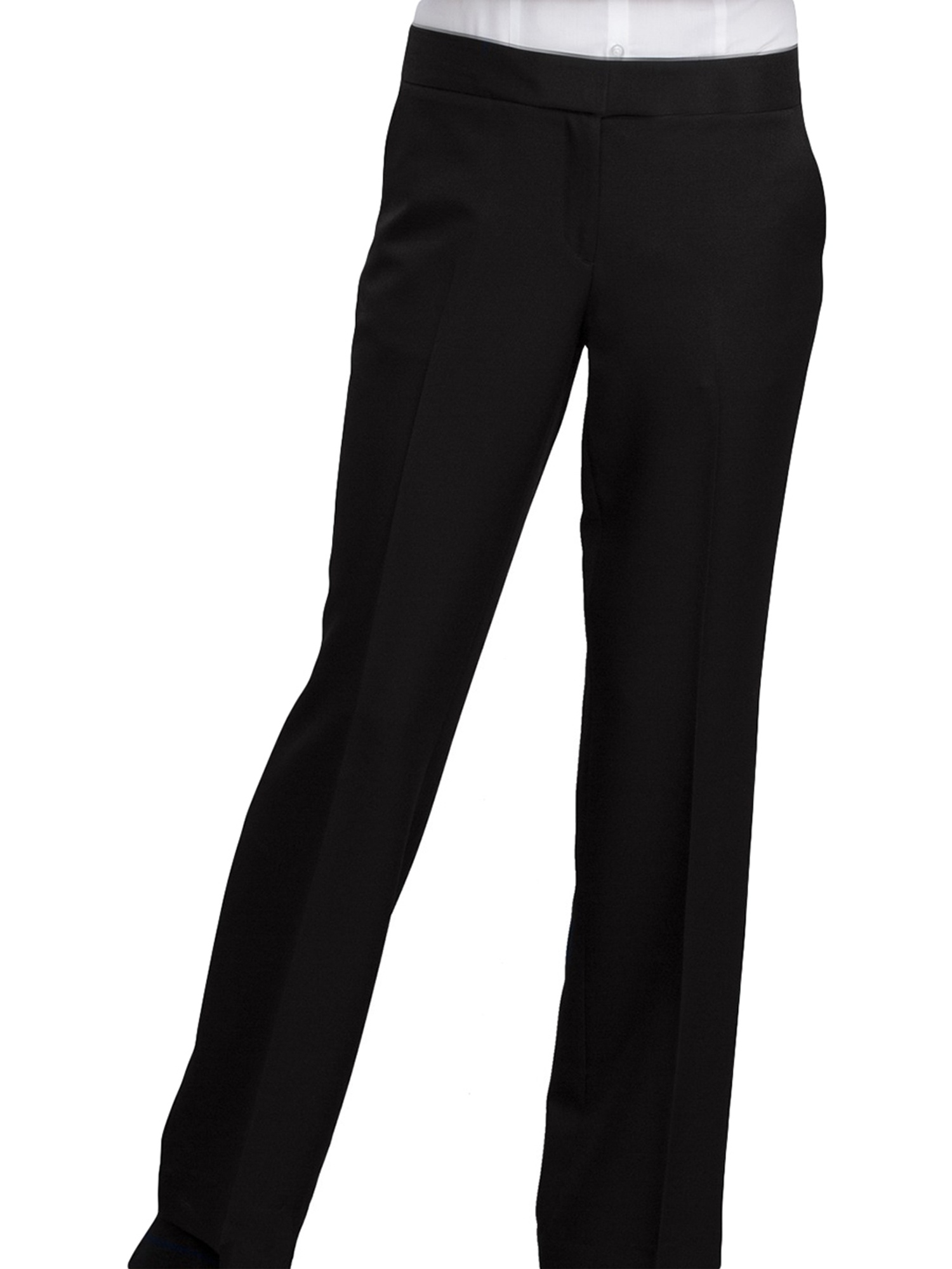 Ed Garments Women's Fashion Mid-rise Pants, NAVY, 6 UL