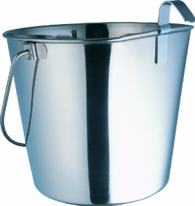 Light Duty Pail (Indipets Heavy Duty Flat Sided Stainless Steel Pail, 2-Quart)