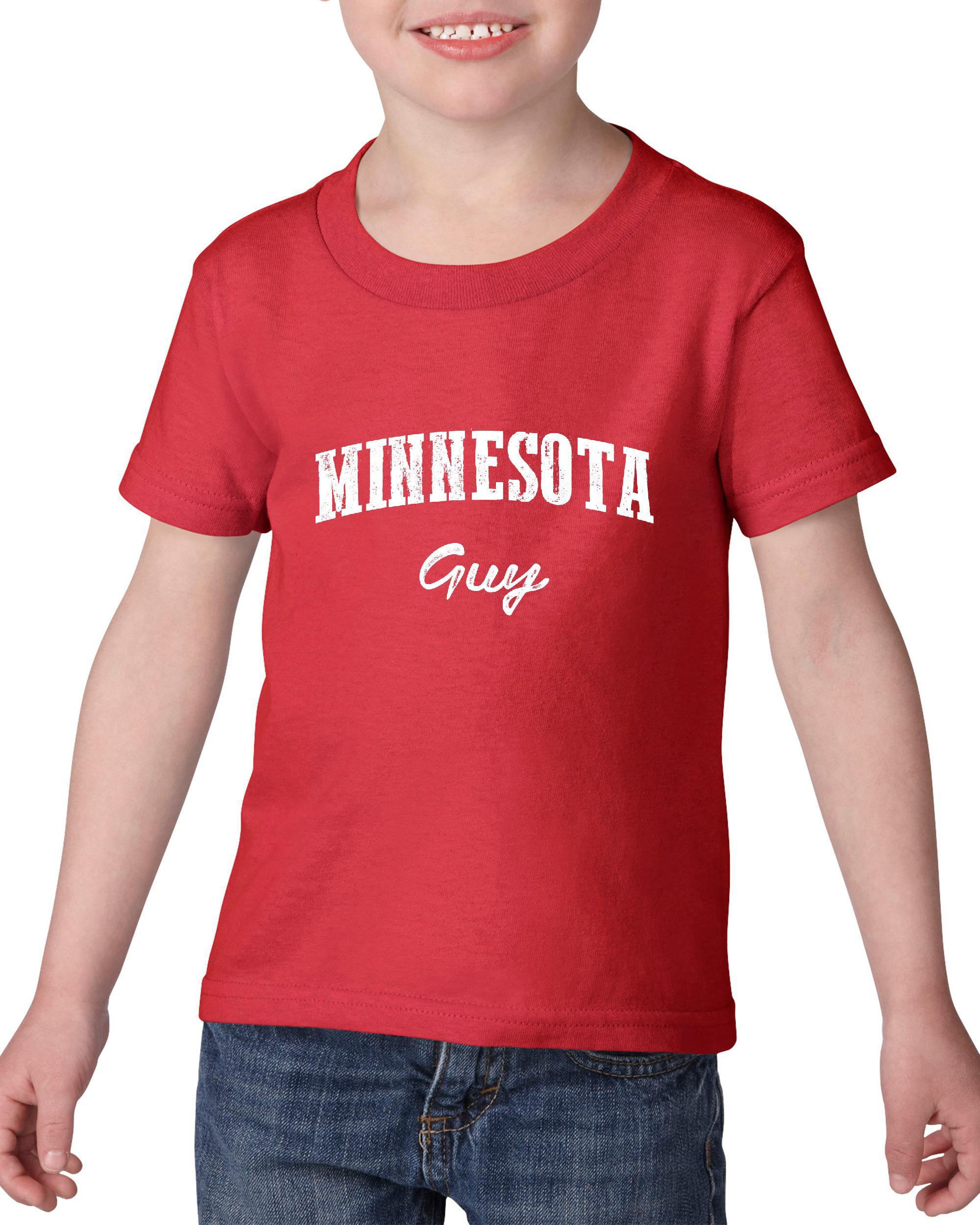 Artix MN Guy Map Minneapolis Flag Golden Gophers Home University of Minnesota Heavy Cotton Toddler Kids T-Shirt Tee Clothing
