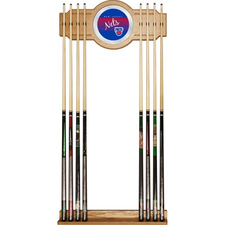 New Jersey Nets Hardwood Classics NBA Cue Rack with Mirror