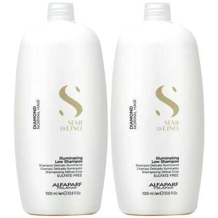 Alfaparf Semi di Lino Diamond Illuminating Shampoo 33.8oz (Pack of 2)