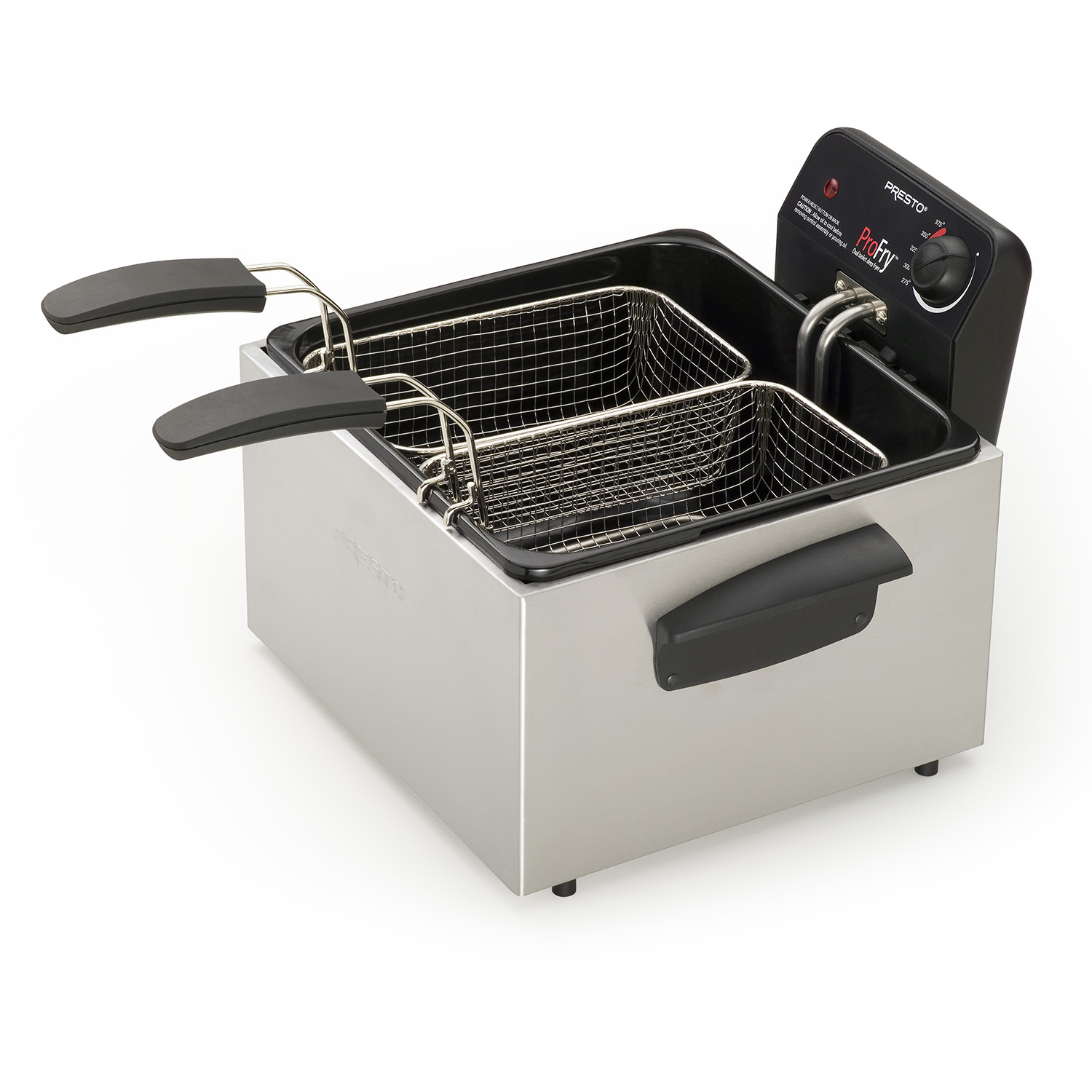 Presto Stainless Steel Dual Basket ProFry™ immersion element deep fryer