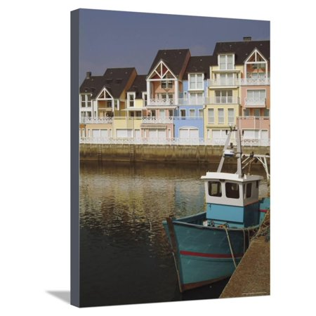 Normandy Finish (Holiday Flats Overlooking the Port, Deauville, Calvados, Normandy, France Stretched Canvas Print Wall Art By David)
