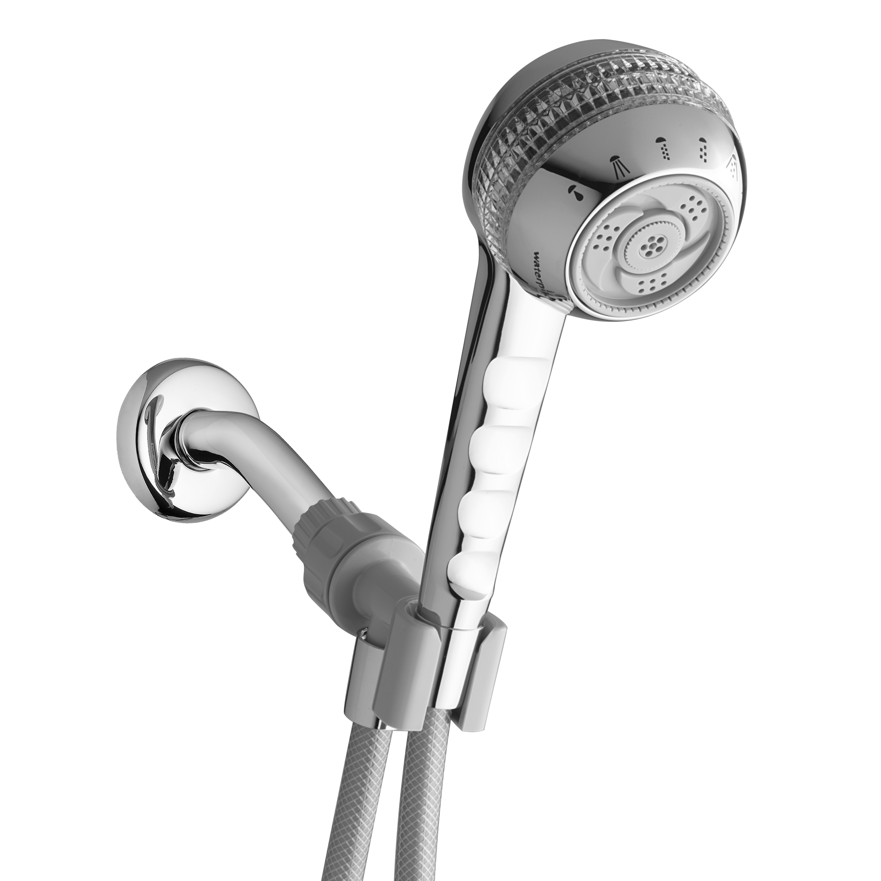 Waterpik 6-Mode PowerSpray+ Original Shower Massage Hand Held Shower Head, Chrome SM-653CG