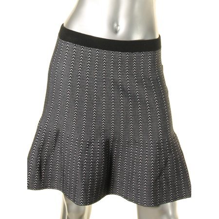 Rachel Rachel Roy Womens Dolly Pattern Herringbone Flare Skirt Herringbone Silk Skirt