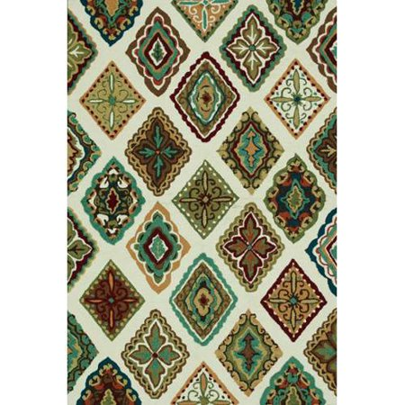 loloi rugs olvahol02ivml7696 olivia collection hand-made 100-percent polyester area rug, 7-feet to 6-inch by 9-feet to 6-inch, ivory/multi