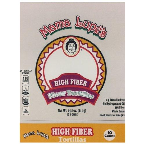 Mama Lupe's High Fiber Flour Tortillas, 10 count, 14.8 oz