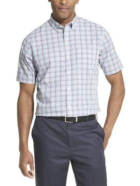 Van Heusen Men's Big and Tall Flex Plaid Non Iron Short Sleeve Shirt
